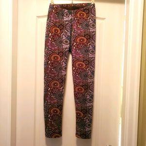 Fleece print leggings